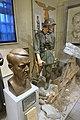 WW2 Norway. Quisling bust by Rasmussen, Straffesak mot Quisling, Waffen-SS frontkjemper, Nasjonal Samling emblem, etc. Justismuseet, Trondheim. 2019-03-07.jpg
