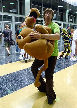 Cosplayer als Shaggy tijdens 2015 Wizard World Chicago.