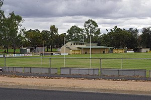 Waikerie, South Australia - View of the football club oval from Peake Terrace
