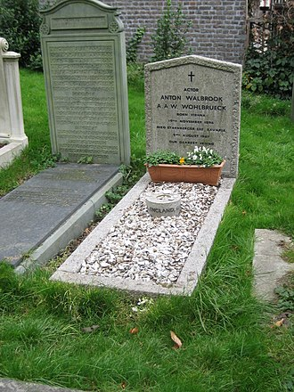Anton Walbrook - The grave of Anton Walbrook in Hampstead Cemetery, London