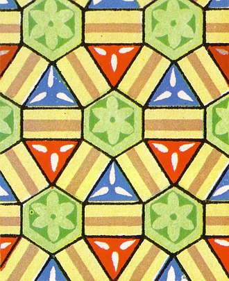 Rhombitrihexagonal tiling - Image: Wallpaper group p 3m 1 1