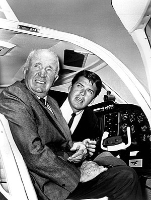 The Tycoon (TV series) - Brennan and Van Williams from the 1964 premiere episode