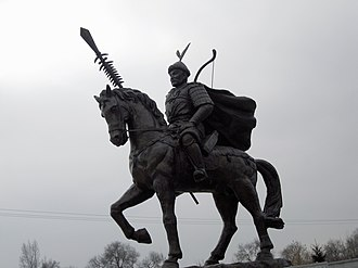 Jin–Song Wars - Modern statue of Jin emperor Taizong at the Museum of the First Capital of Jin. Taizong ordered military campaigns that led to the fall of the northern Song in 1127.