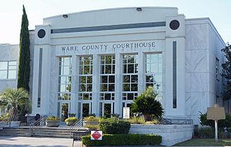 Ware County, Georgia - Image: Ware County Courthouse, Waycross, GA, US