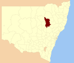 Contea di Warrumbungle – Mappa