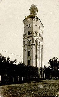 Водонапорная башня и каланча. Фотография начала XX века.