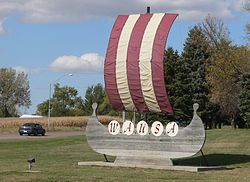 Wausa, Nebraska welcome sign S.JPG