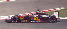 Webber driving his Minardi PS02 car at the 2002 French Grand Prix in Magny Cours
