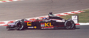 Flag of Kuala Lumpur - The Minardi PS02 displays KL flag which driven by Mark Webber.