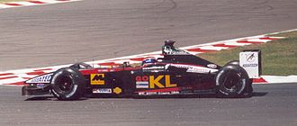 Minardi - Mark Webber driving the Minardi PS02 at the 2002 French Grand Prix