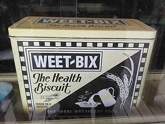 Weet-Bix - Weet-bix early 20th-century tin