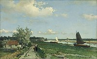 Weissenbruch Jan Hendrik The Shipping Canal at Rijswijk, known as 'The View at Geestbrug'.jpg