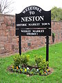 Welcome sign, Parkgate Road, Neston.JPG