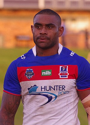 Wes Naiqama - Naiqama in 2012 playing for the Newcastle Knights in the NSW Cup.