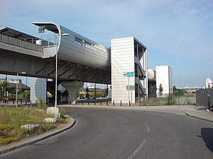 West Silvertown DLR station - Station entrance on northern side