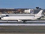 Western Global Airlines McDonnell Douglas MD-11F N435KD landing at JFK Airport.jpg