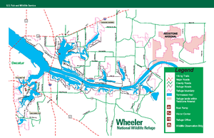 Wheeler National Wildlife Refuge - Map of Wheeler NWR
