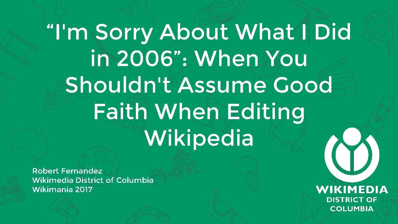 How to Assume Good Faith advise