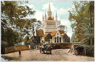 Whippingham - The Church c. 1910; little has changed in 100 years