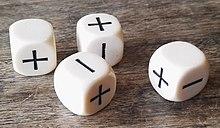 A set of Fudge dice