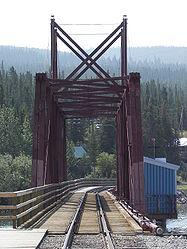 White Pass and Yukon Route bridge from Carcross, Yukon.jpg