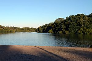 DeValls Bluff, Arkansas - An oxbow lake of the White River in DeValls Bluff