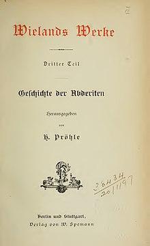 Geschichte der Abderiten (1887) (Source: Wikimedia)