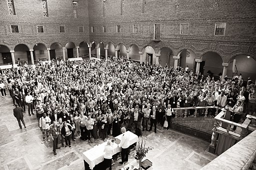 Wikimania 2019 Group Photo Black and White version