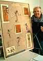 Wilfried Ohrenberg mit Werk im Atelier Bildarium Isernhagener Straße 53 Hannover List.jpg