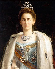 Portrait of Queen Wilhelmina circa 1898