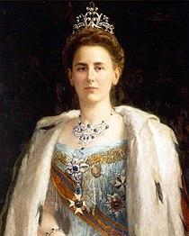 Portrait of Queen Wilhelmina circa 1898