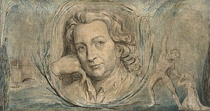 Thomas Otway - Portrait by William Blake, c. 1800
