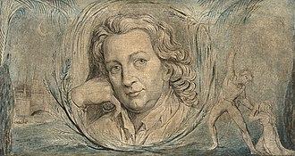 Thomas Otway - Portrait by William Blake, c. 1800