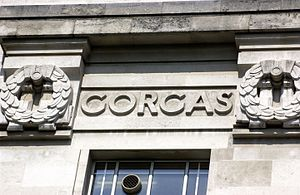 William C. Gorgas - William C. Gorgas' name as it features on the LSHTM Frieze