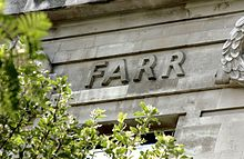 William Farr's name on the Frieze of the LSHTM building