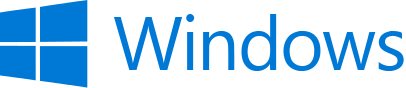 Windows logo and wordmark - 2012 (dark blue)