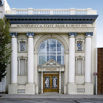Winnemucca, Nevada - Winnemucca State Bank and Trust building is listed on the National Register of Historic Places.