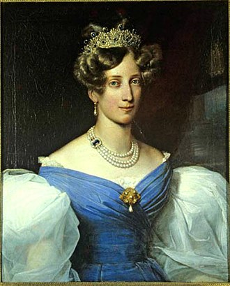 Princess Sophie of Sweden - Portrait by Franz Xaver Winterhalter of Sophie of Sweden, Grand Duchess of Baden (1830)