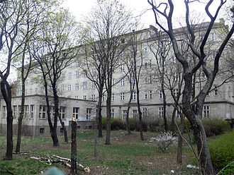 Meldemannstraße dormitory - Back view from Pasettistraße