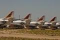 X4 Douglas A-4 Skyhawk Tail Line Up (8391087687).jpg