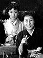 Yoshie and Yaeko Mizutani 1955.jpg
