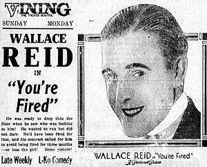 You're Fired - Newspaper advertisement.