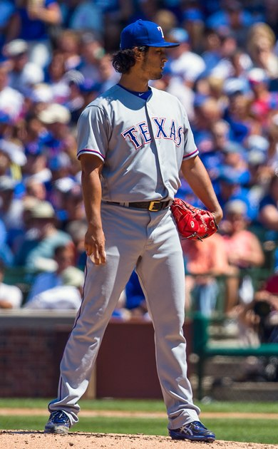 Yu Darvish on July 16, 2016