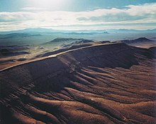 Picture of Yucca Mountain, in the Nevada Desert