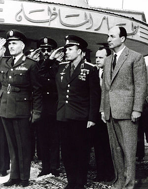 Zakaria Mohieddin - Zakaria Mohieddin and Yuri Gagarin - the first Human in Space, Cairo Almaza Air Base, February 2, 1962