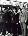 Yuri Gagarin and Zakaria Mohieddin 05-02-1962 Cairo Almaza Air Base.jpg