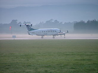 Palmerston North Airport - Air New Zealand Link Beechcraft 1900 at Palmerston North Airport.
