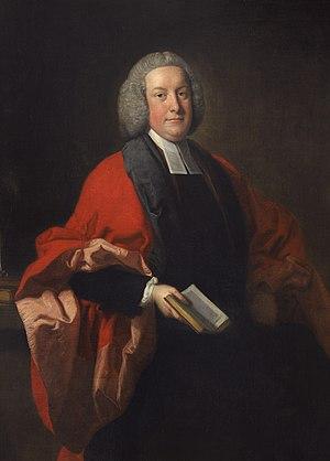 Zachary Brooke (theologian) - Zachary Brooke, 1754 portrait by Thomas Hudson.