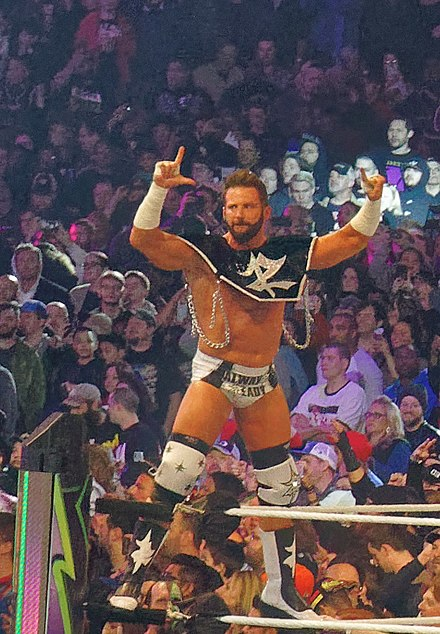 Ryder at WrestleMania 34 in April 2018 Zack Ryder WM34.jpg