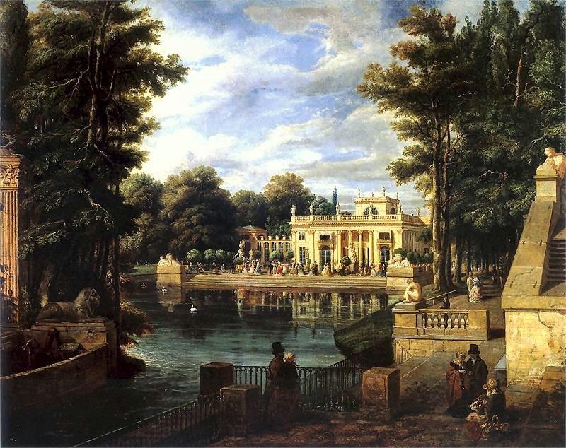 Zaleski Royal Baths Palace in summer